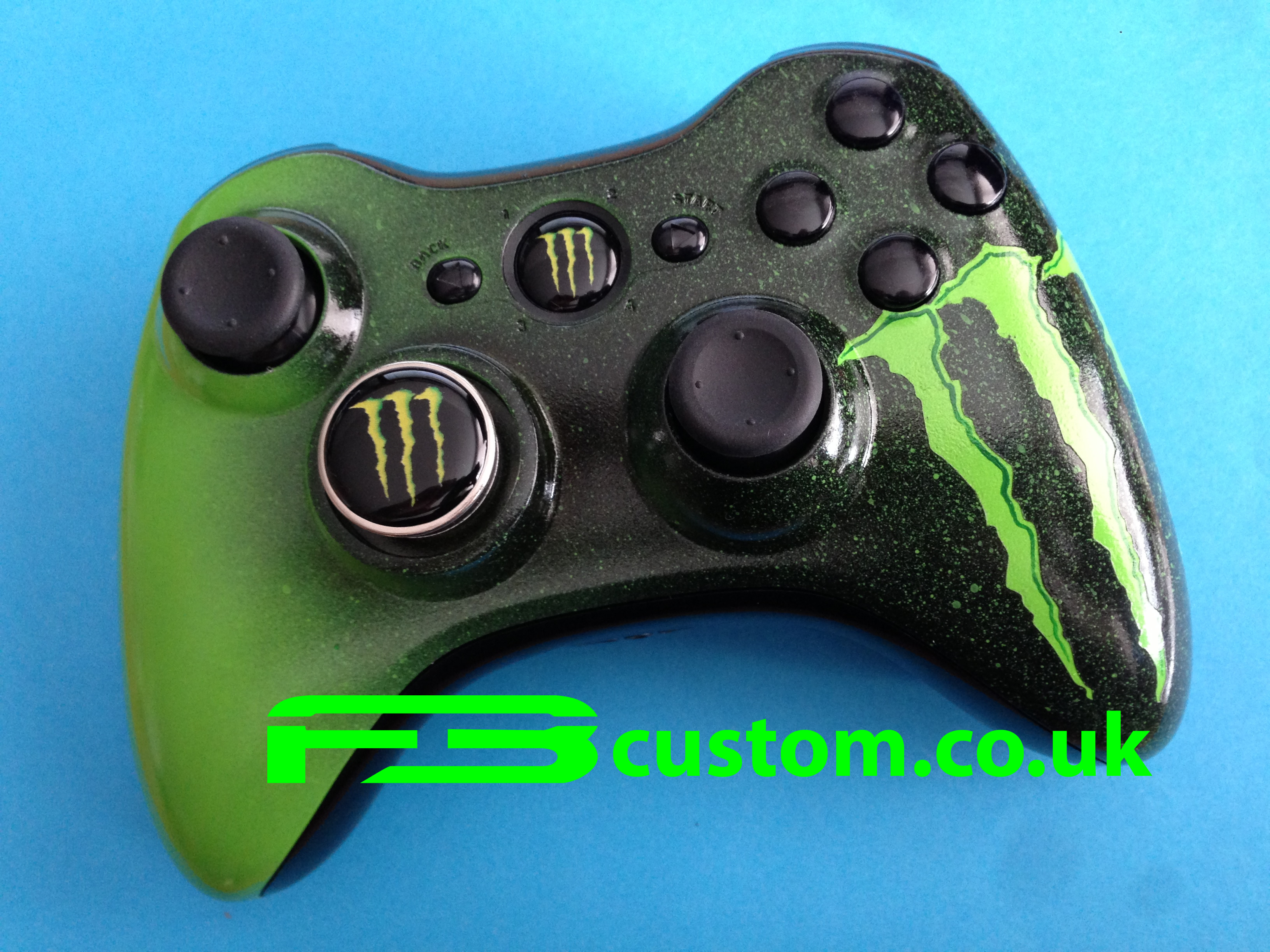 Custom XBOX 360 *Monster* Logo Guide button and D-Pad ...