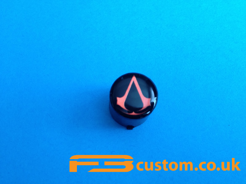 Custom XBOX 360 *Assassin's Creed Red Logo* Guide button ... Xbox 360 Logo Red