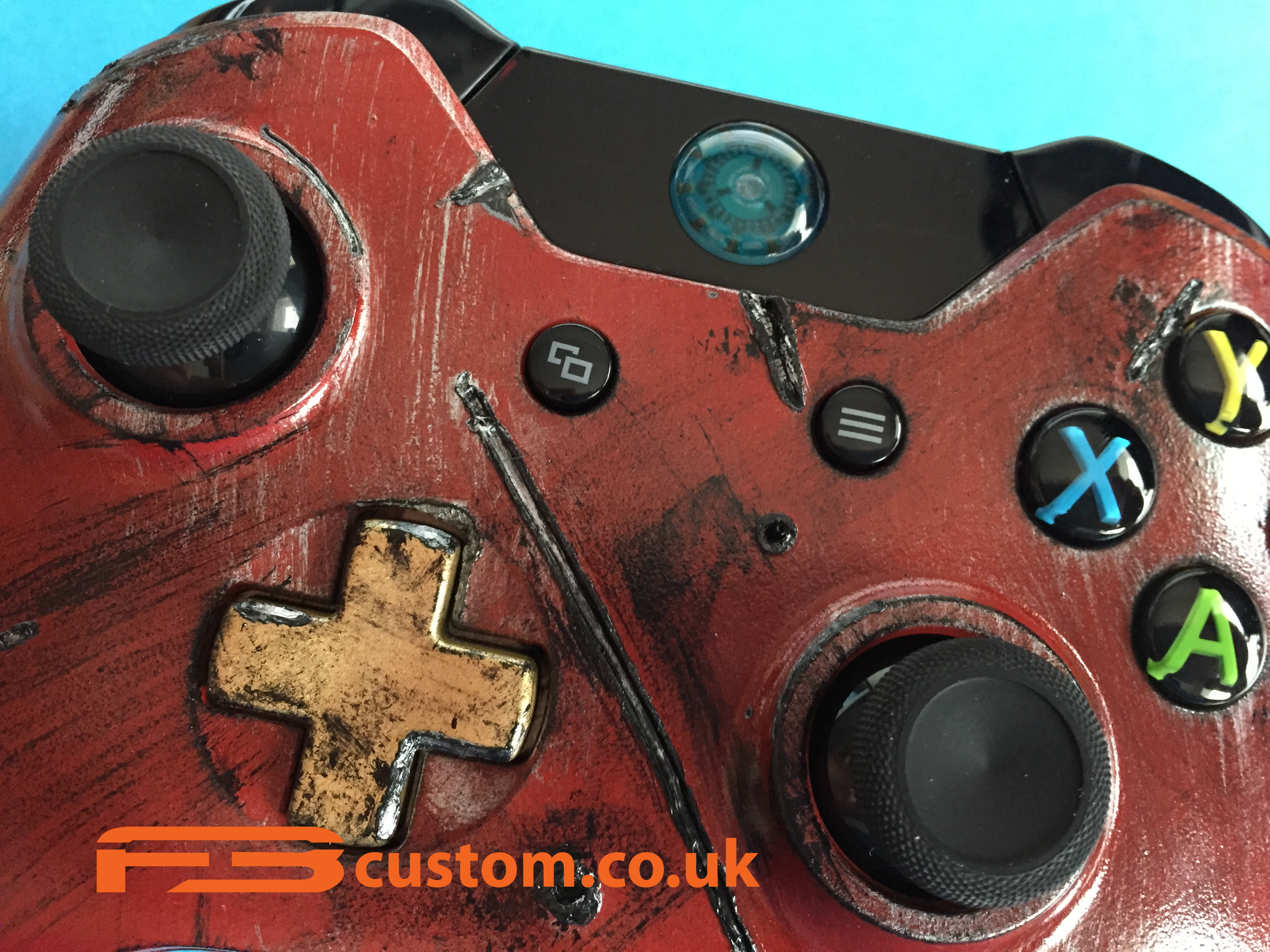 Custom XBOX one * iron man * Guide button ~ F3custom